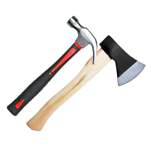 Hammers, axes, sledge hammers