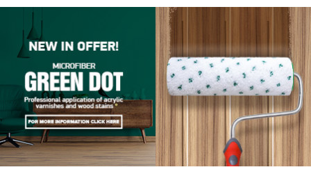 New paint rollers - Microfiber Green Dot