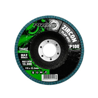 Flap disc zirkon ø115mm, grit 100