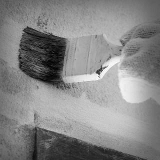 Black Professional brush 70x15