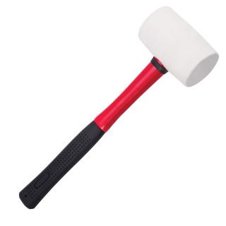 Rubber hammer, fiberglass handle 700gr/24oz