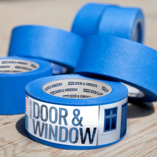 Masking tape Door & Window protection 48mm x 33m, 80ᵒC