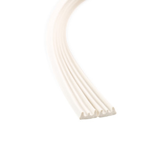 Seal strip E-profile, white 6m