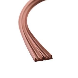 Seal strip E-profile, brown 6m