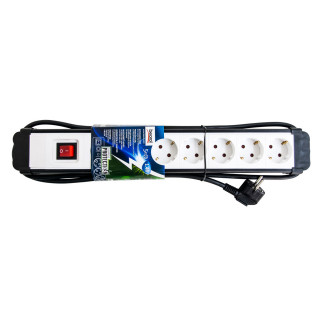 Extension cord with surge protection 5 sockets 1.4m