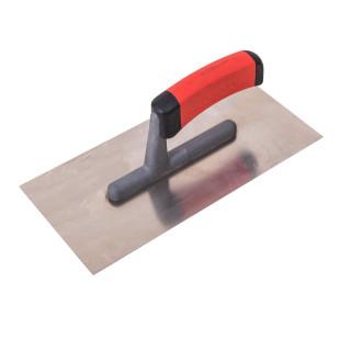 Plastering trowel, stainless steel, rubber handle