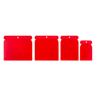 Plastic square scraper 4pcs/set