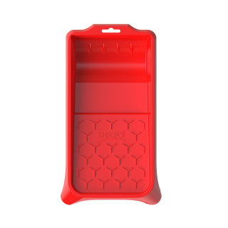 Plastic paint tray 15x32cm, red