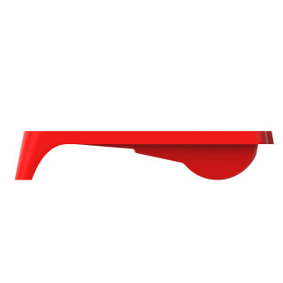 Plastic paint tray 36x36 cm, red
