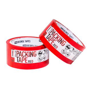 Packing tape, 50mm x 50m, red
