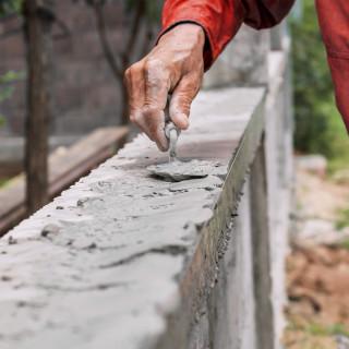 Bricklaying trowel-wooden handl-round shape 160mm