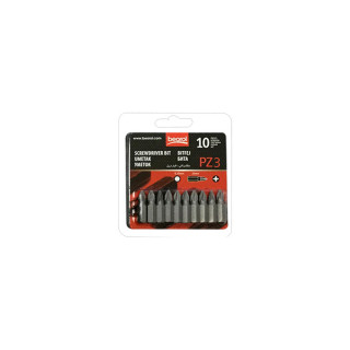 Screwdriver bit PZ3 10pcs