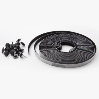 Selfadhesive insect net 100x130, black