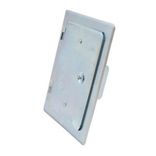 Chimney door, zinc plated 120 x 180mm
