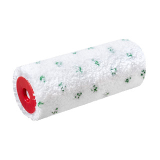 Paint roller microfiber Green dot 18cm  Ø8 charge thermofusion