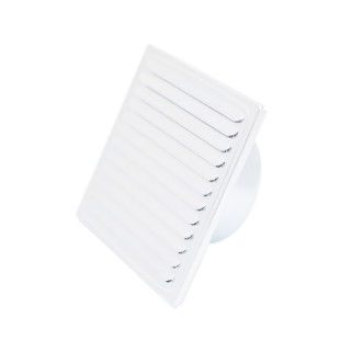 Ventilation grid, white ø100, 150x150mm