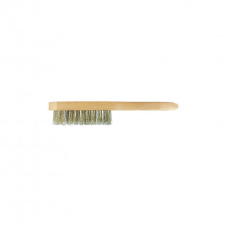 Brassed wire brush