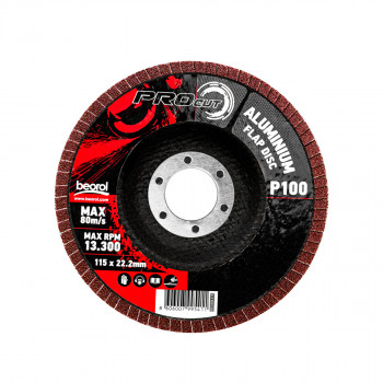 Flap disc aluminum ø115mm, grit 100