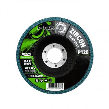 Flap disc zirkon ø115mm, grit 120