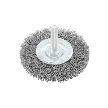 Circular brush, steel wire ø75mm, for drill
