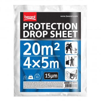 Protection drop sheet 4x5m / (13,1x16,4 ft),15mic