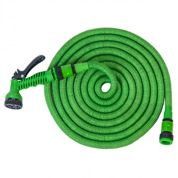Expandable hose 15m, green