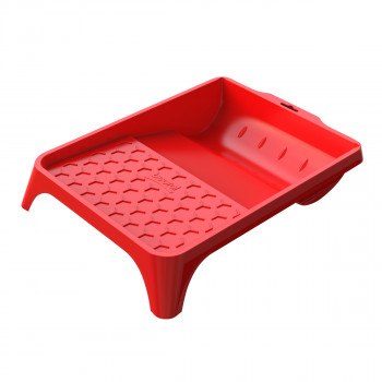 Plastic paint tray 36x26cm, red