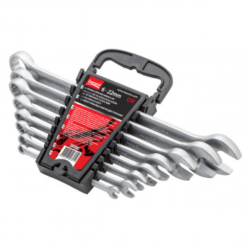 Combination wrench set, 8pcs, 6-22mm