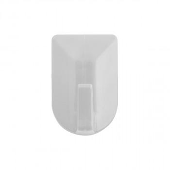 Plastic wall hooks 3/1 white