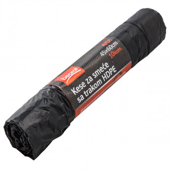 Garbage bags with tape, 40Lit, 10pcs