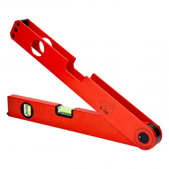 Tape angle measuring spirit level 180˚