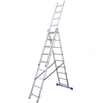 Combination aluminium ladders, 9 steps