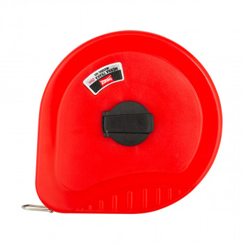 Fiberglass measuring tape 65 ft / 20m, colour red