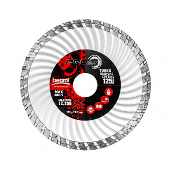 Turbo diamond cutting disc, ø125mm