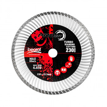 Turbo diamond cutting disc, ø230mm