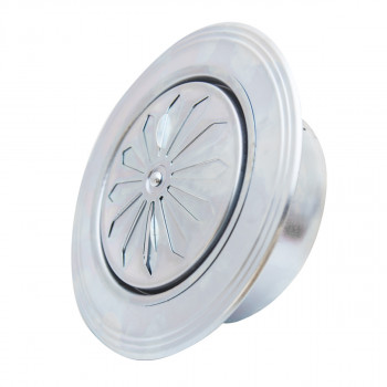 Ventilation rosette zinc plated ø119 round