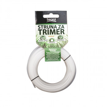 Trimmer line square 2.4mm x 15m