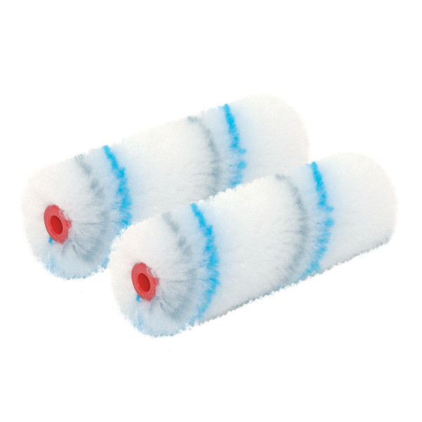 Small paint roller Blue Line 10cm charge, 2pc