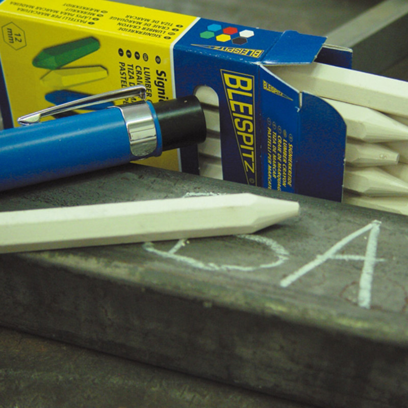 Marking crayon 120mm ø12mm, white 12/1