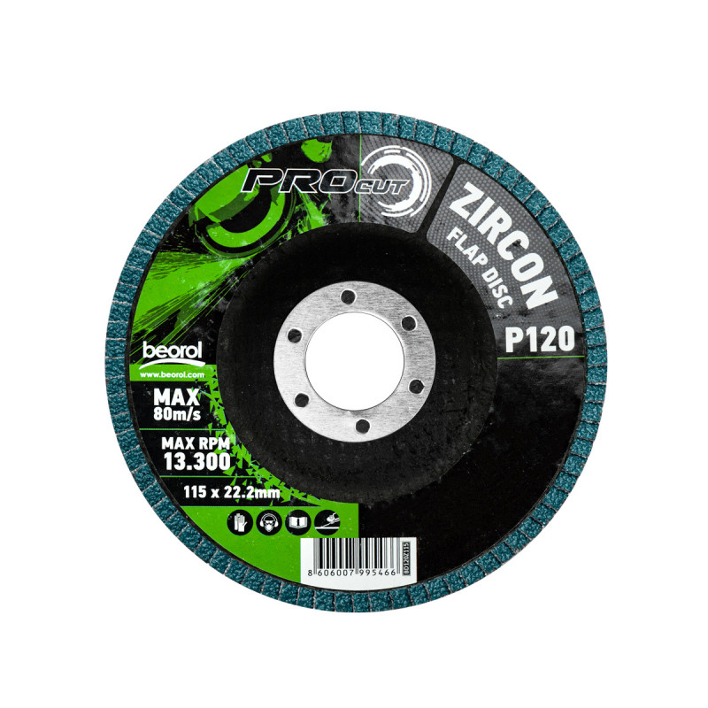 Flap disc zirkon ø115mm, grit 120