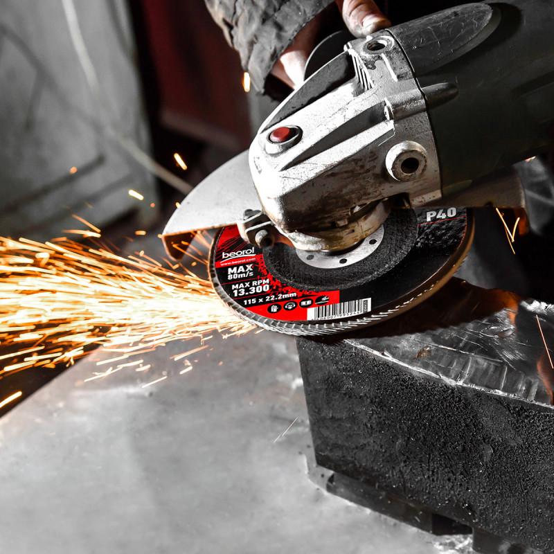 Flap disc aluminium ø115mm, grit 40