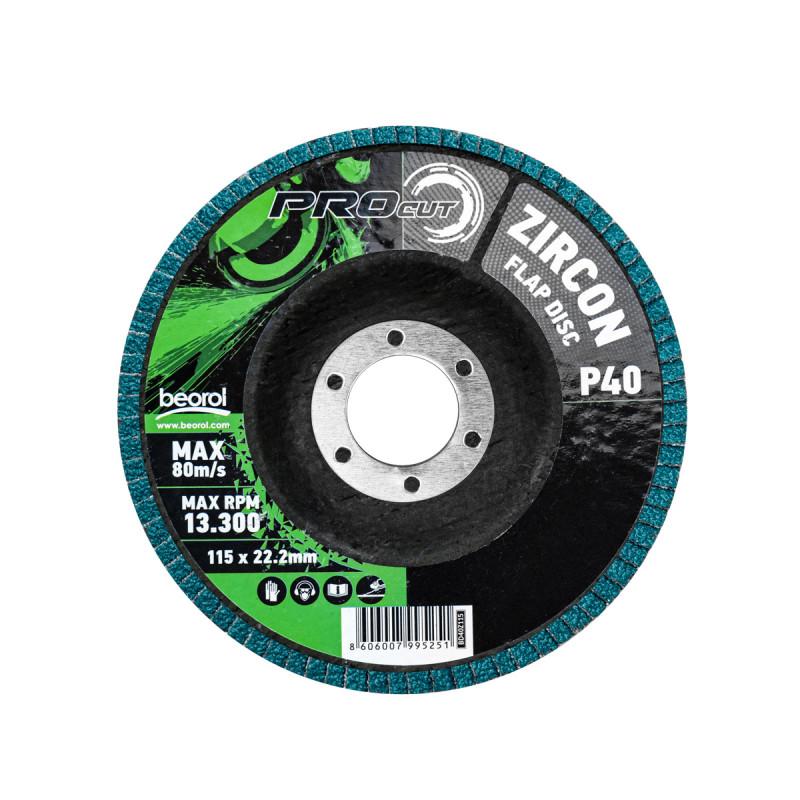 Flap disc zirkon ø115mm, grit 40
