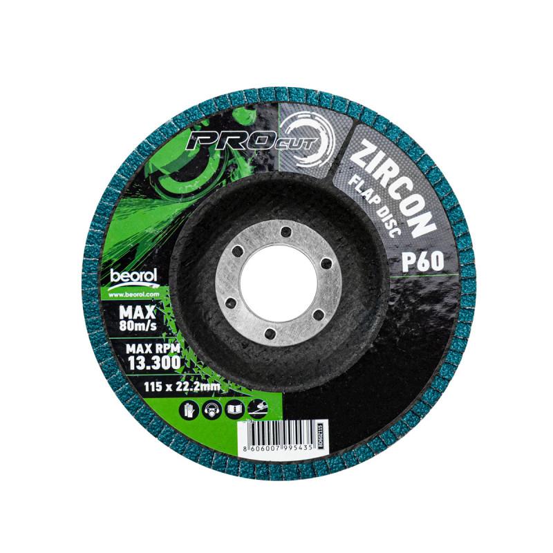 Flap disc zirkon ø115mm, grit 60