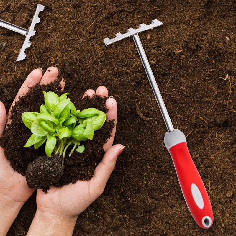 Garden stainless steel rake