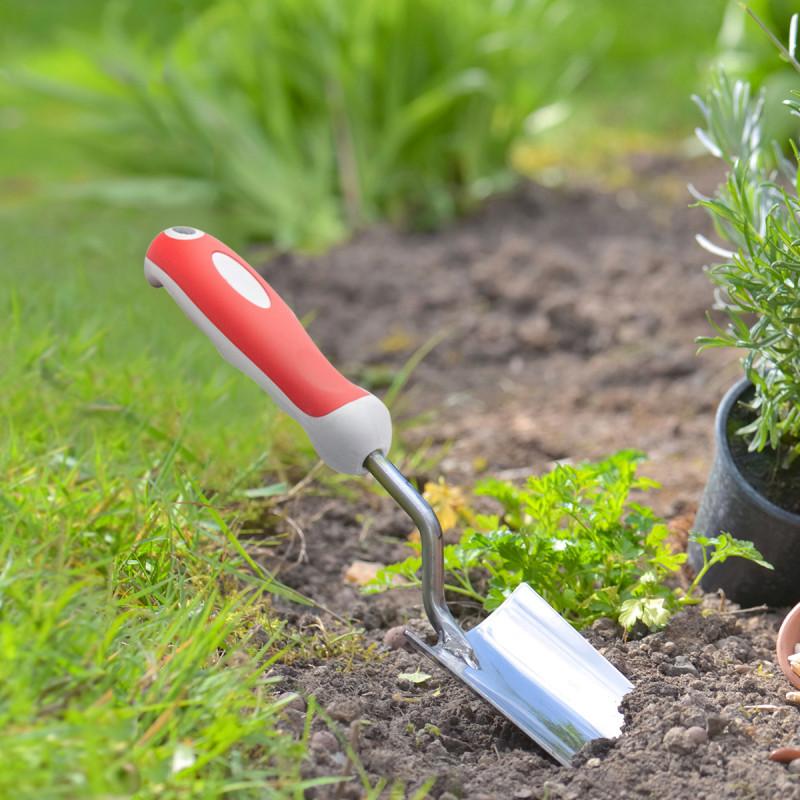 Garden stainless steel trowel - wide