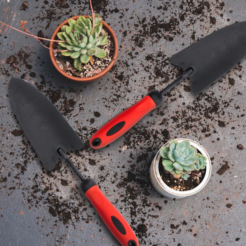 Garden powder coated steel trowel - narrow