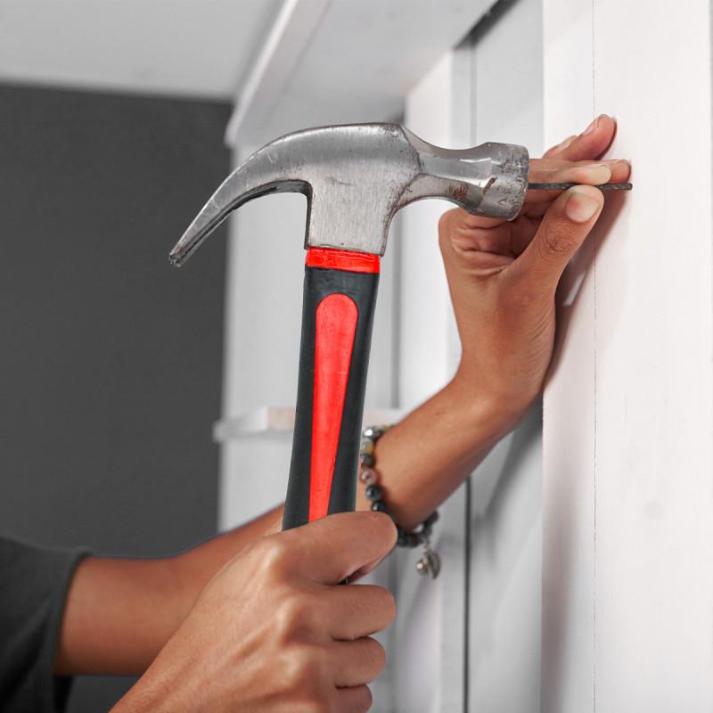 Carpenter hammer, fiberglass handle 600gr/21oz