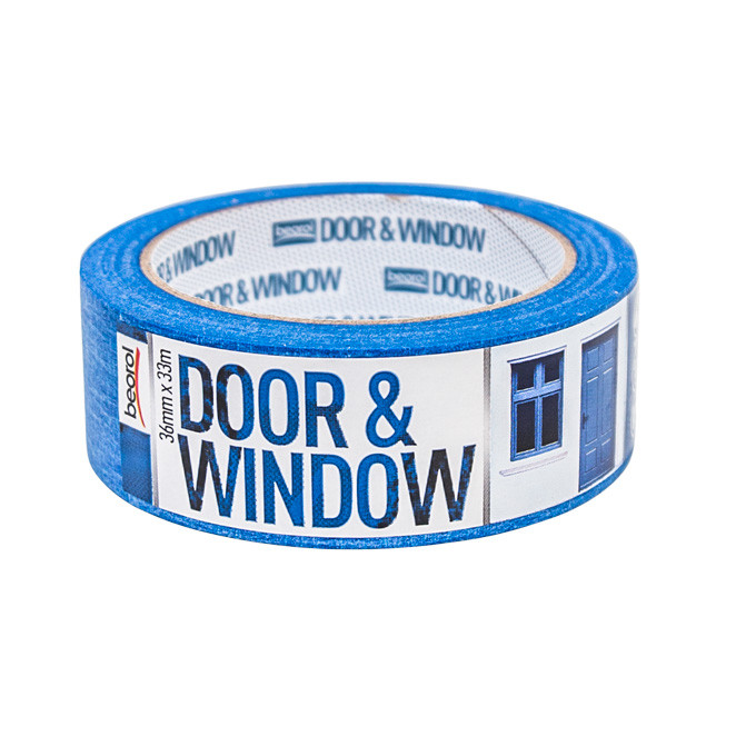 Masking tape Door & Window protection 36mm x 33m, 80ᵒC