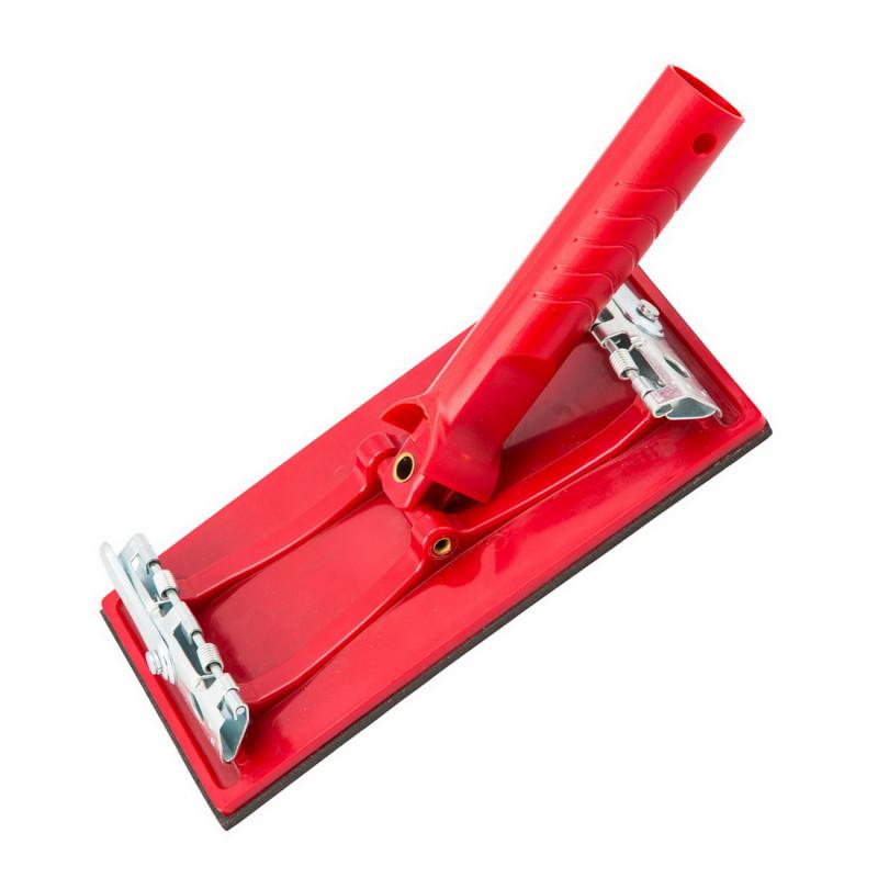 Sandpaper holder for telescopic poles