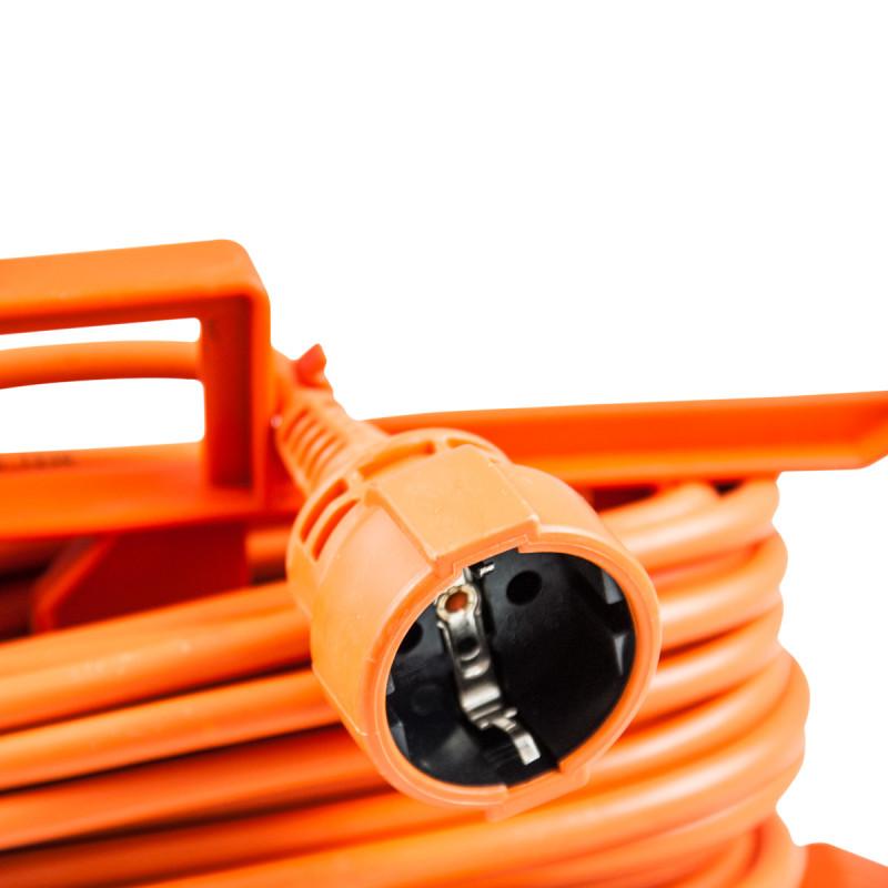 Single portable socket, 15m orange